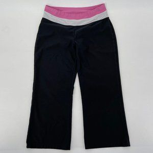 Nike Fit Dry Black Cropped Yoga Activewear Pants S